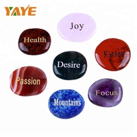 Wholesale Natural gemstone Engraved Chakra stones