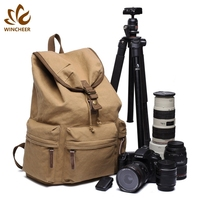 Wholesale custom men's casual rucksack outdoor multi-functional daily leisure canvas backpack for camera