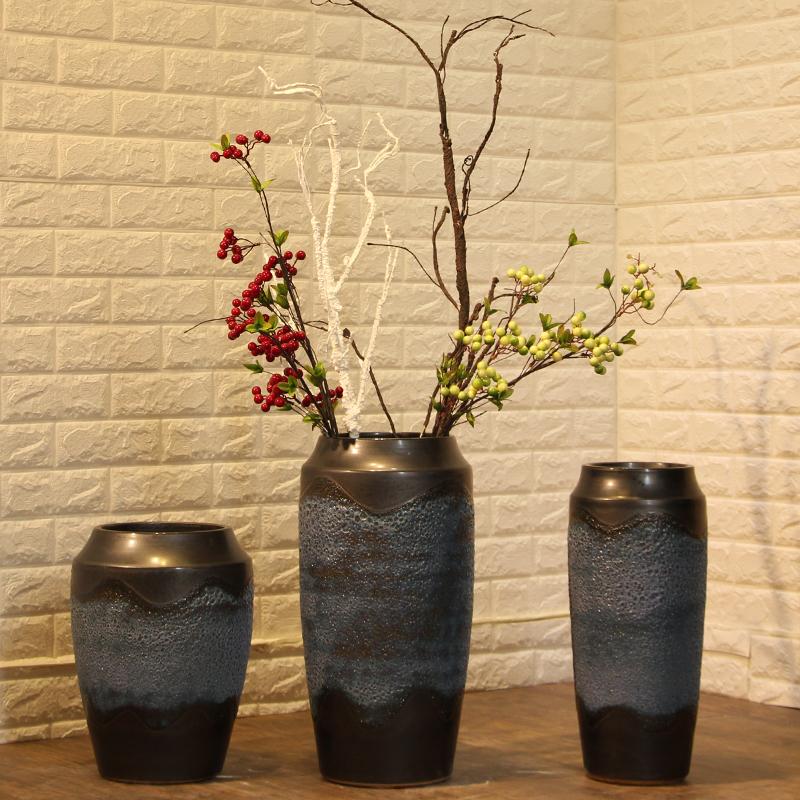 2017 Yilu Antique Large Decorative Tall Ceramic Floor Flower Vase Vases