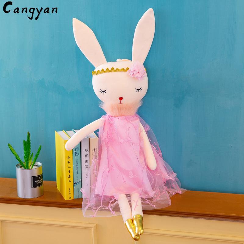Мягкие красивые длинные уши кролик плюшевые игрушки милое платье принцессы Кукла Кролик девочка подарок на день рождения Рождество(Китай)