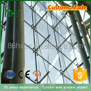 HX Curtain wall materials/Innovative facade design and engineering supporting for fixed point glass curtain wall
