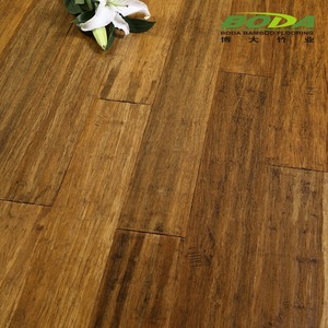 Coffee Matt Handscraped clip lock strand bamboo look floor tiles