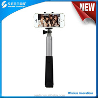 CE RoHS certificated Metal Material Bluetooth Selfie Stick build in battery+special holder