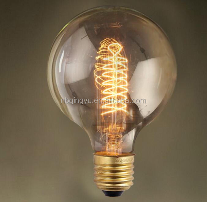 Antique globe retro <strong>lamp</strong> <strong>spiral</strong> G95 E27 40W 60W edison bulb