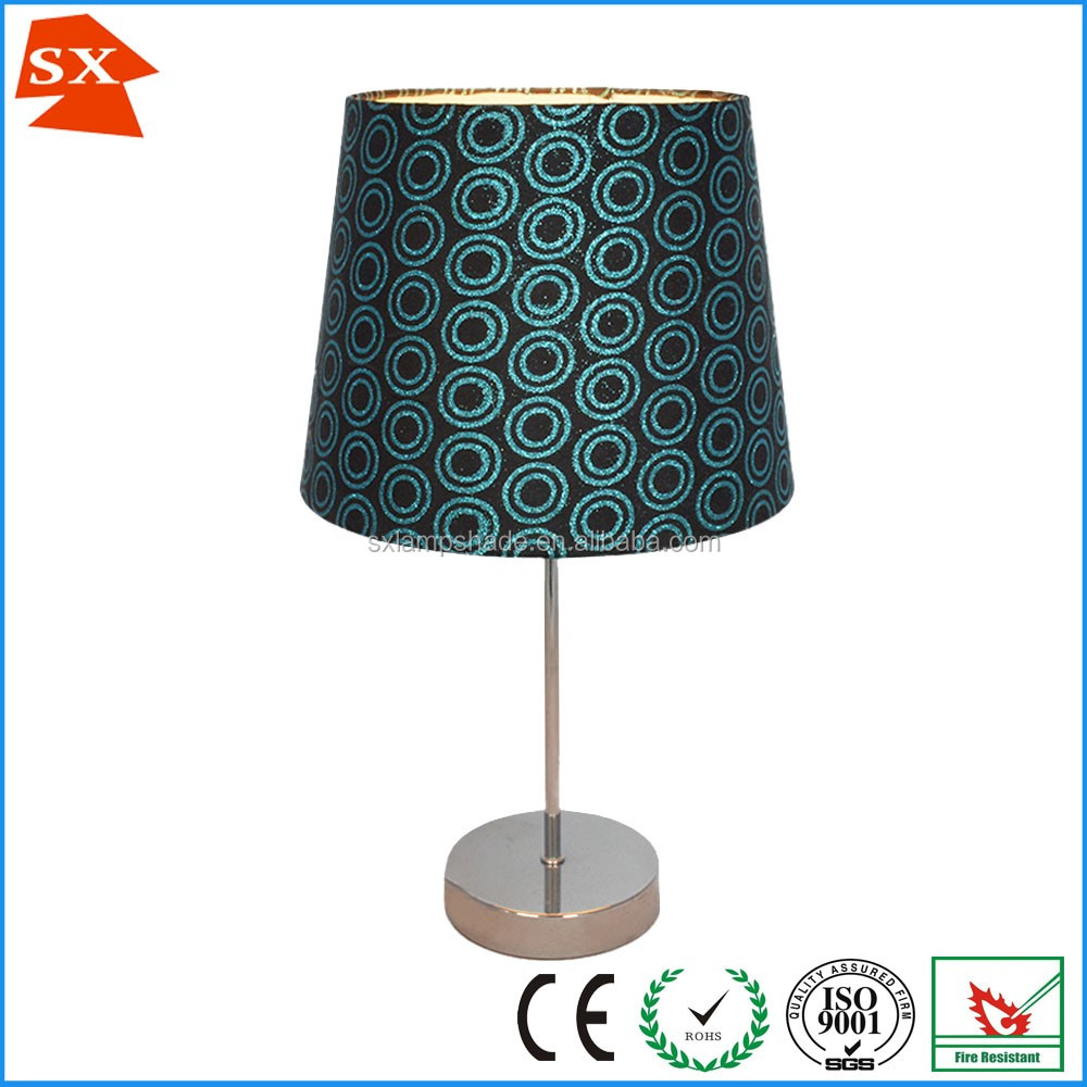 Classic and fashion TC fabric foil gold table lamp shade SX-0039