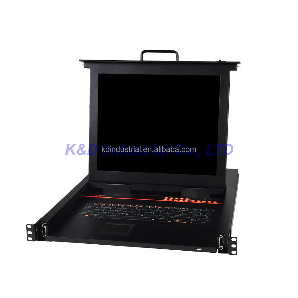 17 Inch 8 Port LED LCD KVM Switch Over IP Computer Controller PS2 or USB VGA