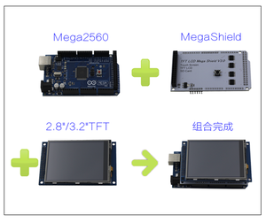 "TFT01 3.2"" 4.3"" 5.0"" 7.0"" Mega Touch LCD Shield Expansion Board"