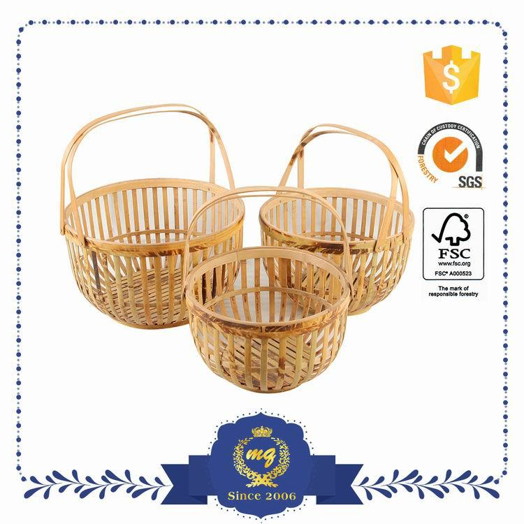 Customized Oem Handmade Rattan Bamboo Storage Baskets Made In Vietnam