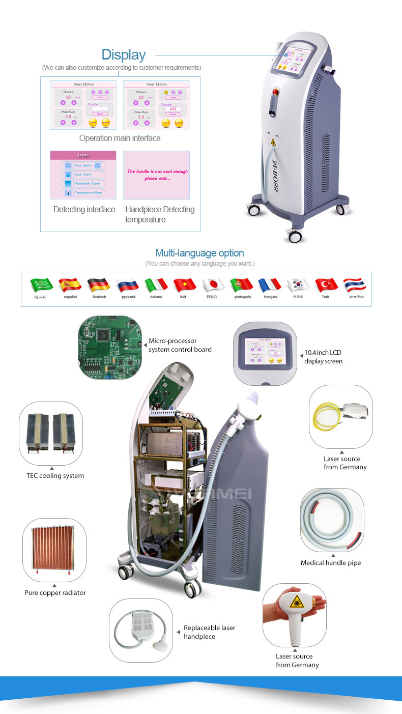 Multi Function Beauty Machine with Best Hair Removal 808nm Diode Laser Equipment