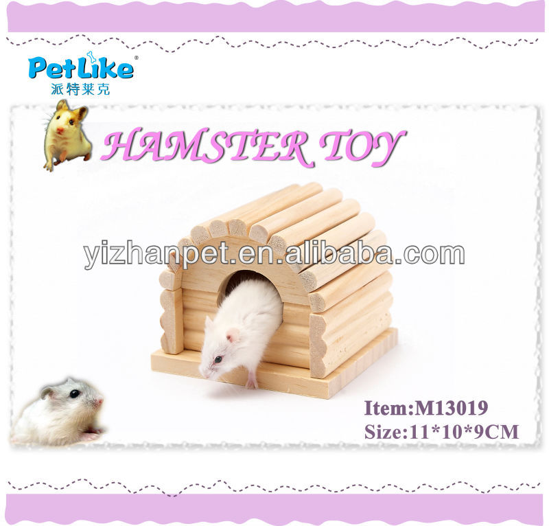 pet Cheap wholesale pet home luxury wooden hamster Beatiful House For Hamster