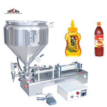 Small Semi-auto PET Bottle Paste Shampoo Filling Machine