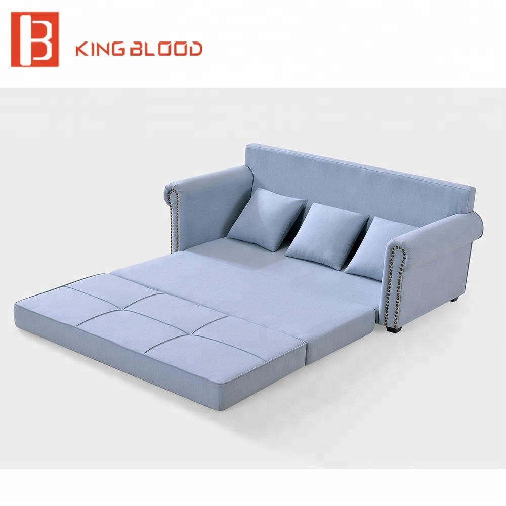 Fabric Chesterfield Floor Sofa Bed