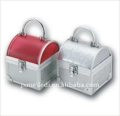 Mini durable easy-carrying aluminum cosmetic case
