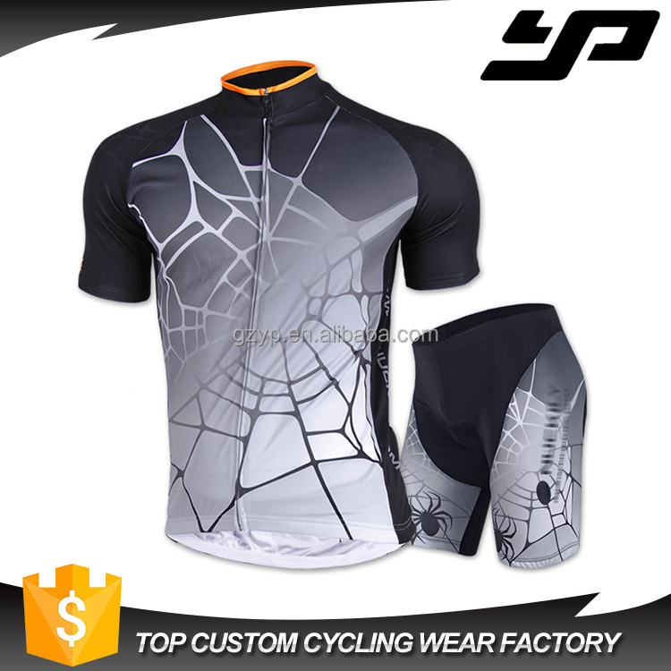Custom design sublimation digital printing personal team cotton cycling jersey