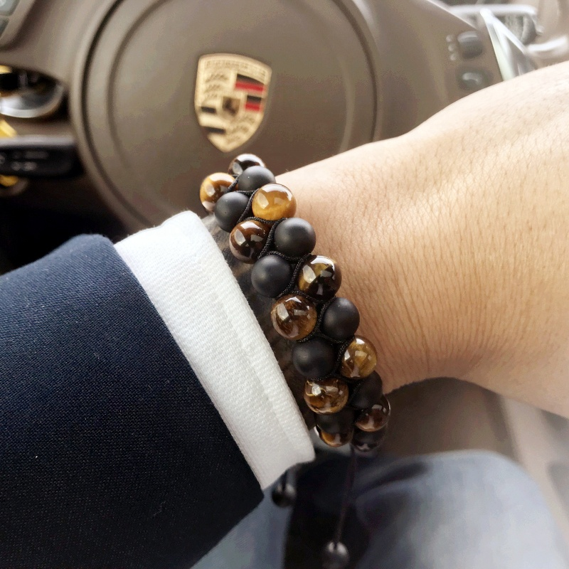 Mcllroy 2019 natural stone jewelry Braided Woven Handmade bracelets Custom Natural Stone Bracelet фото