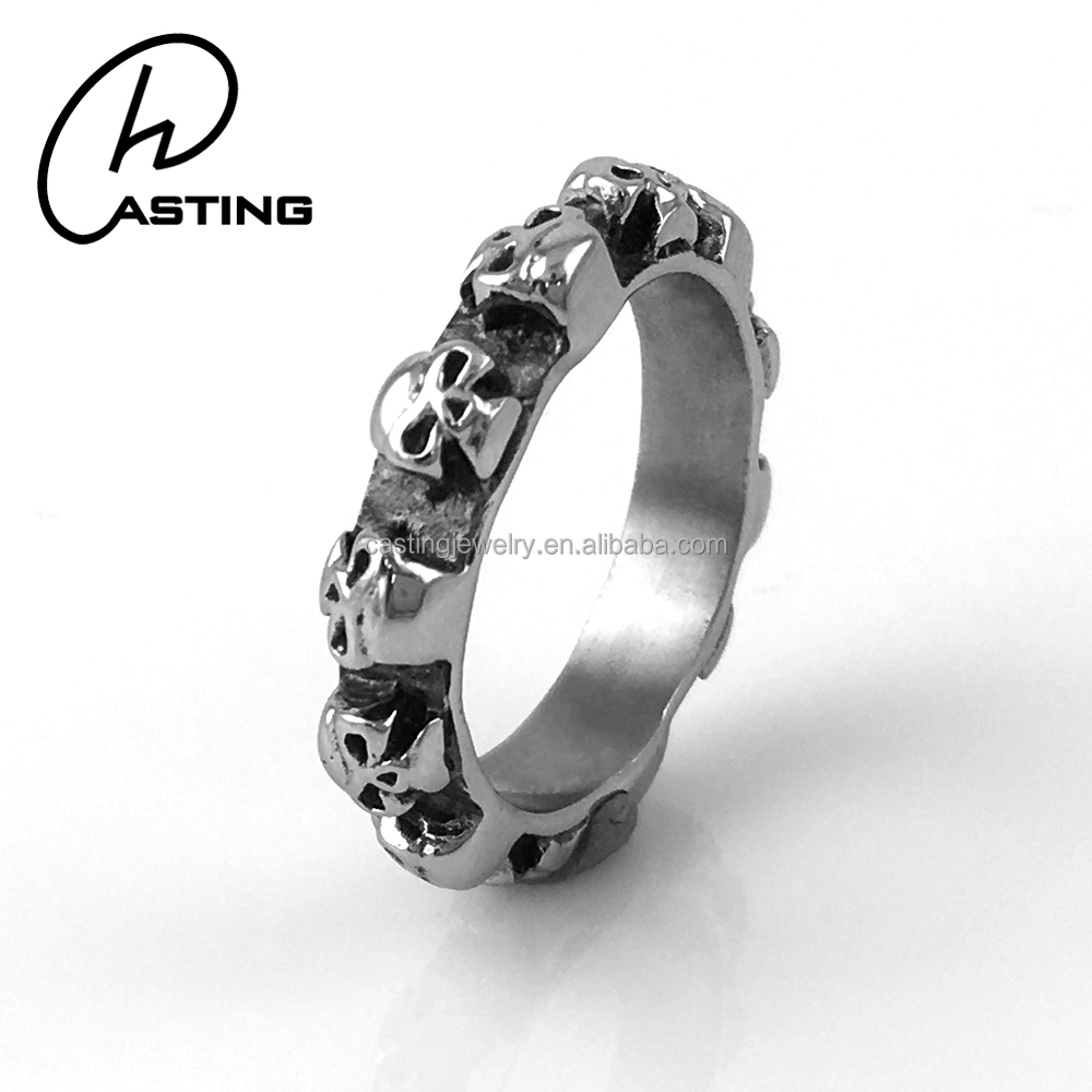Cheap 316L Stainless Steel Mens Wedding Skull Bands Ring