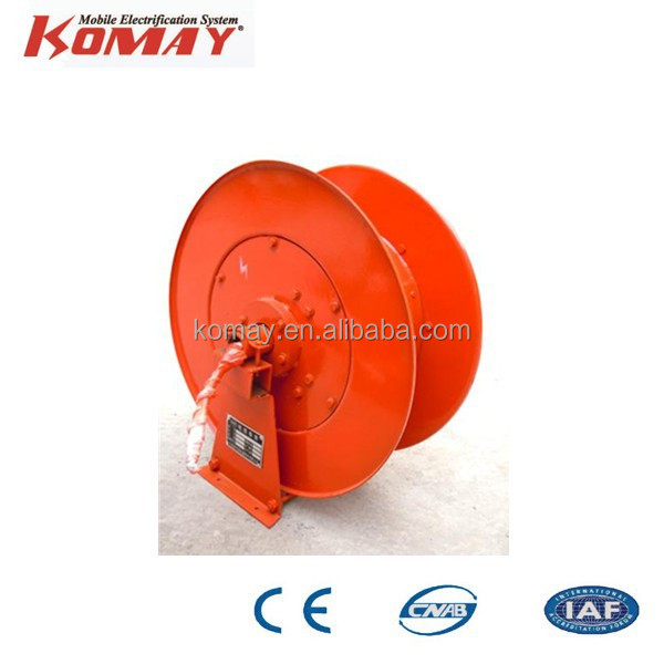 Cable Reel Drum Installed on the Crane ,retractable cable reel
