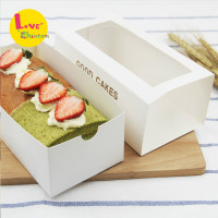 Merry christmas baked cake roll dessert window drawer box packaging