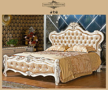 2014 antique bedroom furniture wood double bed designs