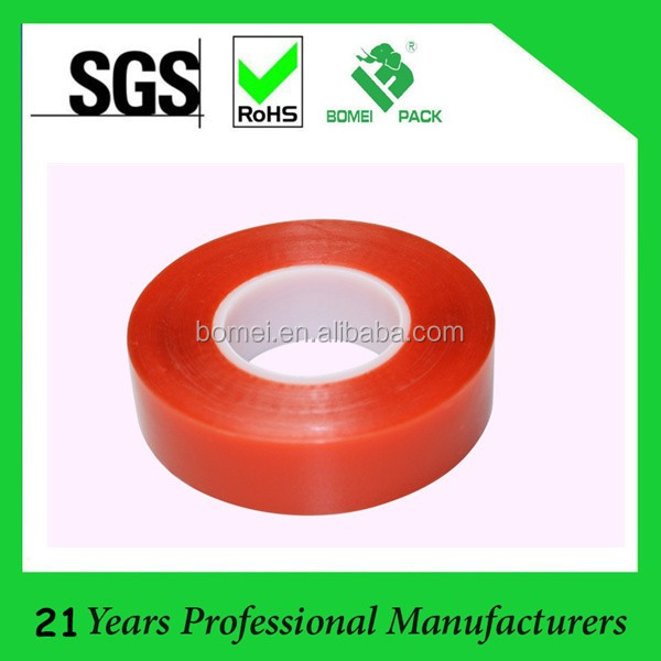 Free Samples Wholesale 160mic- 205mic Red Release Film Liner Double Sided PET Film Tape