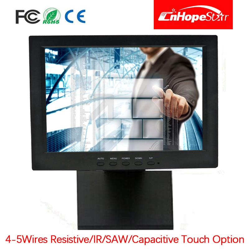 LED backlight pos display 12 inch resistive Touch Screen Monitor