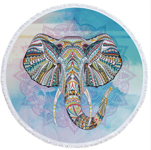 2018 Elephant Thai Style Wholesale Round Beach Towel For Summer