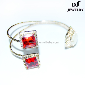 Ruby alloy sexy noblee handmade luxury bangle crystal bead bracelet