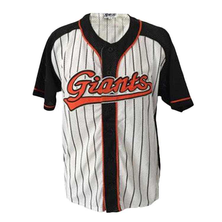 Geen size limited custom printing knop baseball t-shirt baseball jersey