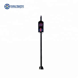 Hot sale galvanized outdoor single standing pole for traffic light