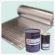 adhesive for flame lamination of thermal insulation foam for protecting ventilating duct AL+PET+PE