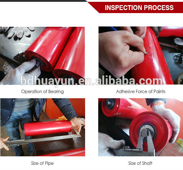 material handling equipment parts rubber impact with conveyor roller bearing