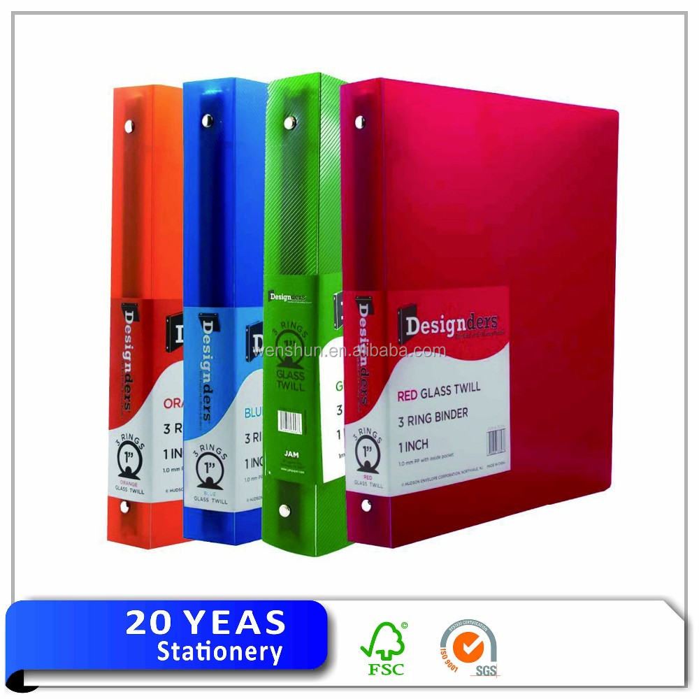 wholesale cheap plastic 3 ring binder plastic pp file