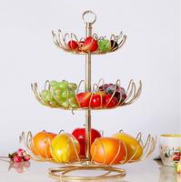 home & garden 3-Tier hanging wire fruit basket / kitchen 3 tier fruit storage basket stand