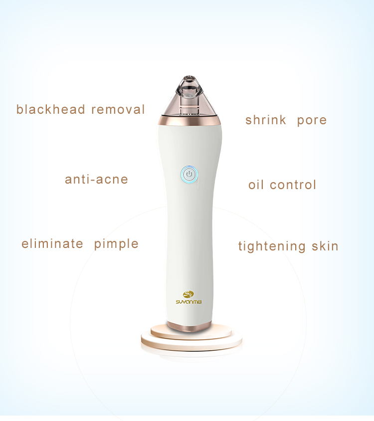Hot Selling Logo Printing USB Rechargeable Electric Face Cleaner Vacuum Blackhead Pore Cleaner For pore,ance treatment