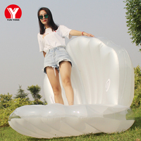 New Hot wholesale pool inflatable seashell float Giant swimming Clam shell floating mat