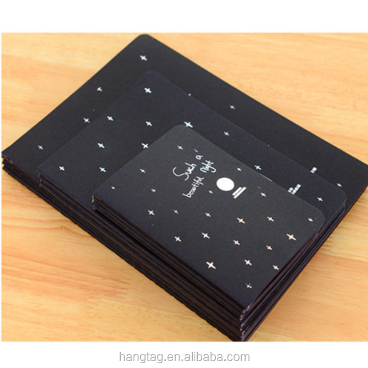 Custom Personalized Plain Black Notebook for Student