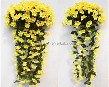 Home garden deco 50cm to 100 cm hanging flower basket artificial home garden deco 50cm to 100 cm hanging flower basket artificial flower for wall decoration artificial mightylinksfo