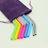 Reusable Silicone Drinking Straws, Extra long Flexible Straws with Cleaning Brushes for 30 oz Tumbler