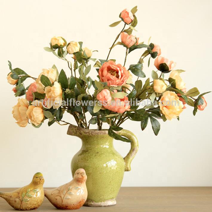 High Quality Silk Flowers Peony Artificial Flower Arrangements Buy