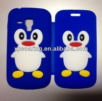 Mobile phone penguin flip cover for Samsung Galaxy S duos case