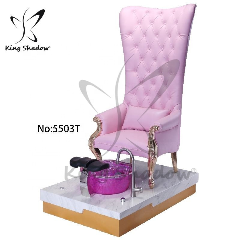 Alibaba.com / Kingshadow luxury throne spa pedicure chair with sink jet pedicure bowl