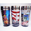 hot sale high quality American paper wall design 450ml double layer travel mug