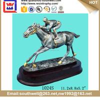 horse racing souvenir craft polyresin horse