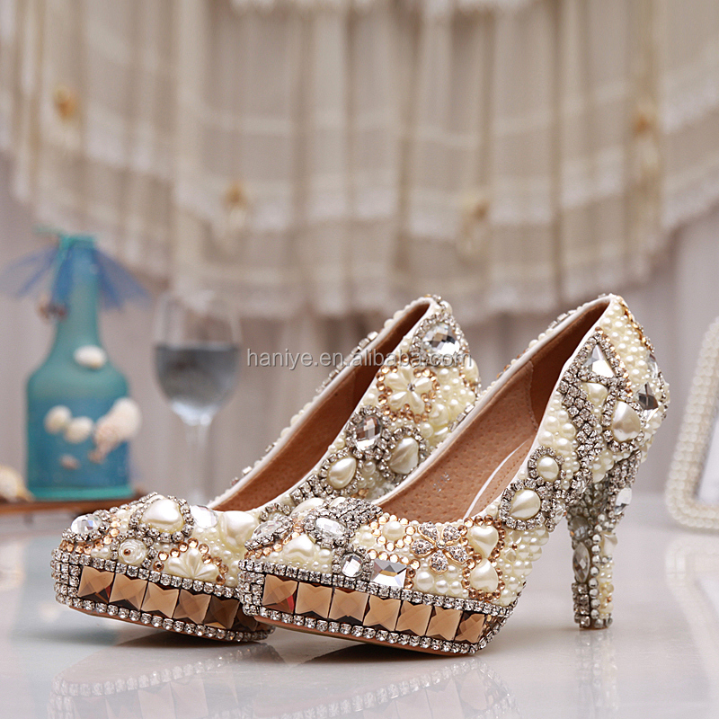 venta al por mayor color de zapatos para novia-compre online los