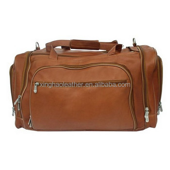 Men S Vintage Leather Travel Weekender Bag Genuine Cow Duffle Premium Gripesack Multi Compartment Duffel