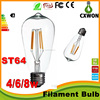 China market wholesale ST64 dimmable 220v 80Ra 4w filament led bulb best selling products in japan
