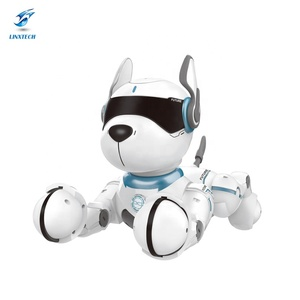 Linxtech RC robot toy Intelligent Program RC Music Dog Toy Educational Robot with Imitate a variety of animal sounds