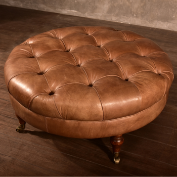 Marvelous Tufted Vintage Leather Ottoman With Castor View Tufted Vintage Leather Ottoman With Castor Defaico Product Details From Henan Defaico Import Caraccident5 Cool Chair Designs And Ideas Caraccident5Info