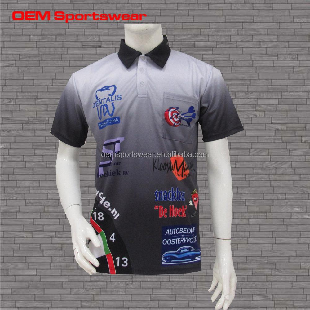 Multi Logos Custom Printing Men Polo Shirts No Minimum Buy
