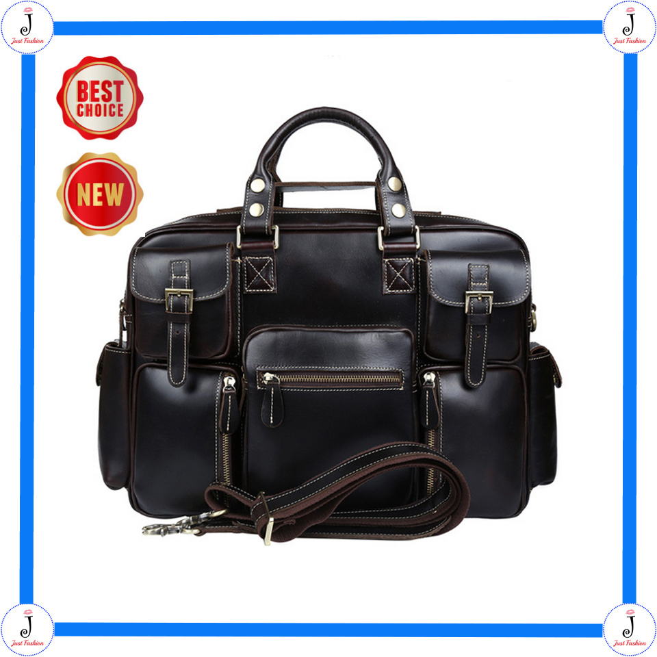 2015 New Arrival AAAAA+ Guarantee Genuine Head Layer Cowhide Leather Vintage Handbags For Men Travel Shoulder Bags Free Shipping
